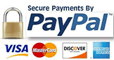 Major Credit Cards and PayPal